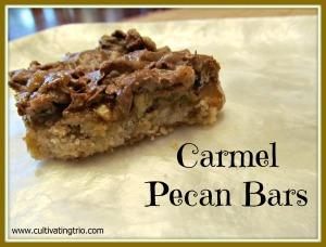 Carmel Pecan Bars w