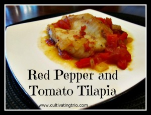 Red Pepper and Tomato Tilapia