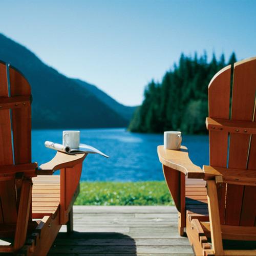summer adirondack chairs reading
