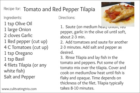 Tomato and red pepper Tilapia Recipe