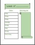 menu planing mini