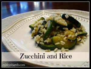 zucchini and rice