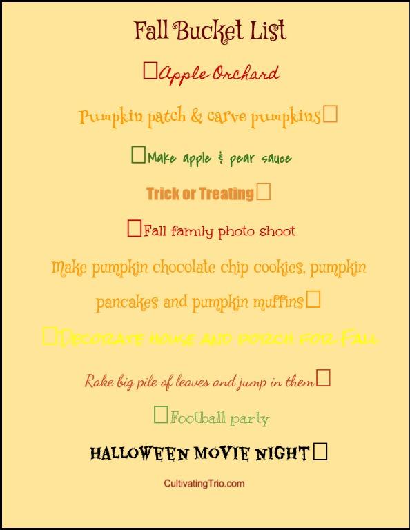 fall checklistpm
