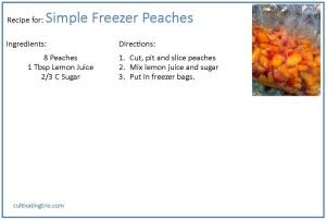 peach recipe
