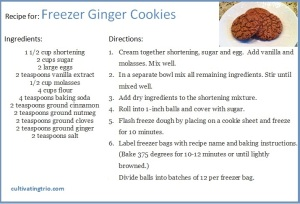 ginger cookie Recipe card1