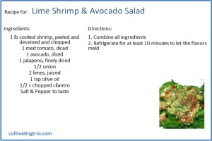 whole30 Lime Shrimp salad recipe