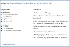 Twice baked Sweet pot